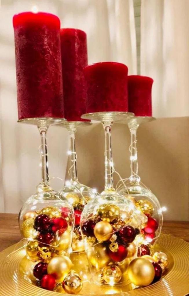 Немного бесплатной романтики на Новый год. Подружка показала, как сделать стильный подсвечник из бокала (фото вариантов)