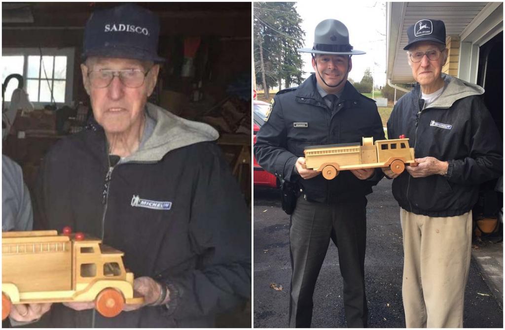 93-летний мужчина весь год мастерит 300 деревянных игрушек, чтобы раздать детям на Рождество