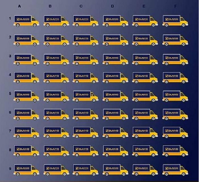 Тест на внимательность: только в одном фургоне есть водитель