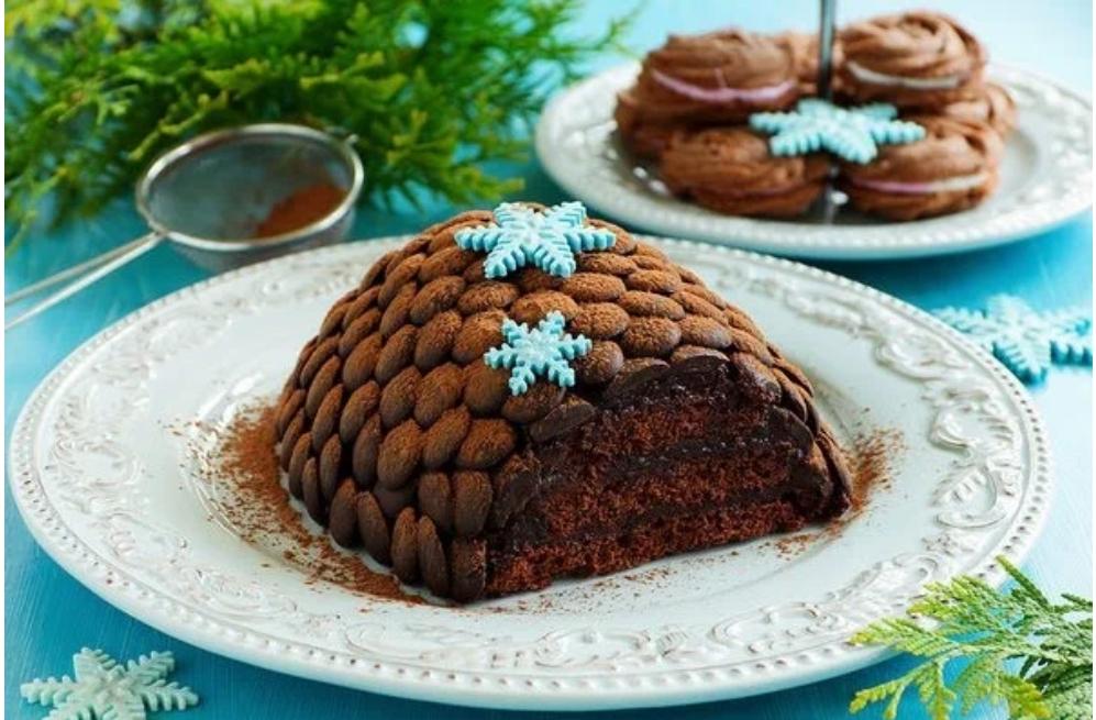 Торт  Еловая шишка : вкусный десерт для новогоднего стола