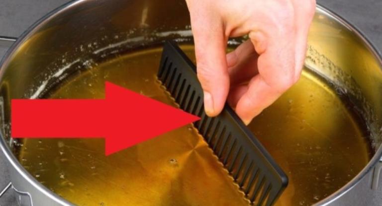 Знакомый кондитер взял расческу и погрузил ее карамель. Такого способа украшения десертов я еще не видела