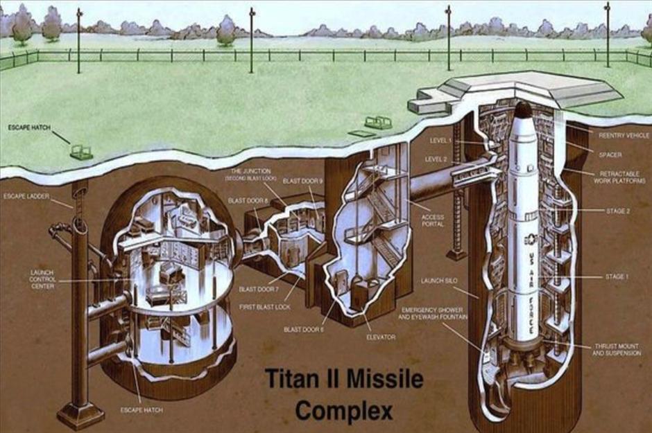 Списанный бункер для самой большой баллистической ракеты холодной войны США продан через 60 лет
