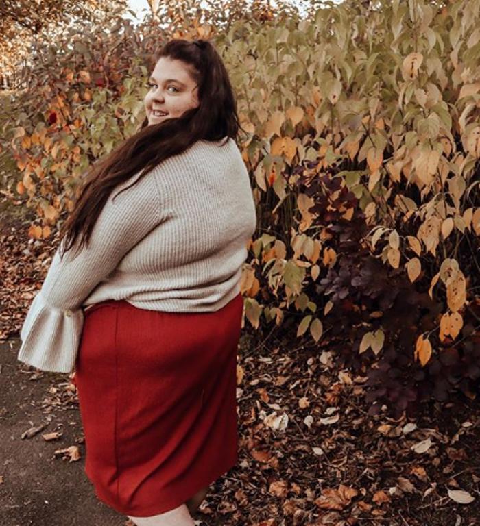 Полная девушка Эби Полден гордится своим большим весом и не собирается худеть