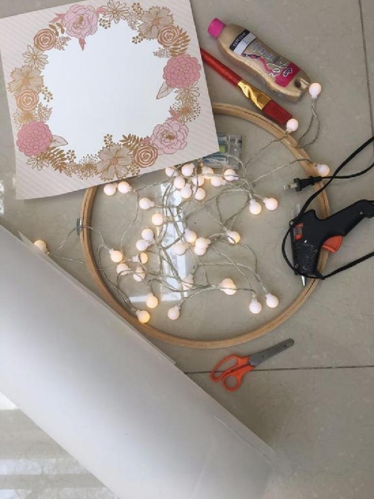 Симпатичный светильник для женской спальни: пошаговая инструкция
