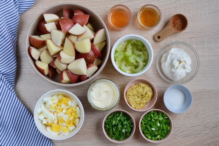 Картофельный салат с креольским соусом и специями. Свекровь поделилась фирменным рецептом