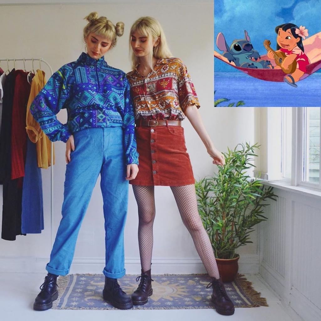 Маркетинг   всему голова: сестры близнецы продают свою старую одежду онлайн, собирая из нее образы диснеевских персонажей (фото)