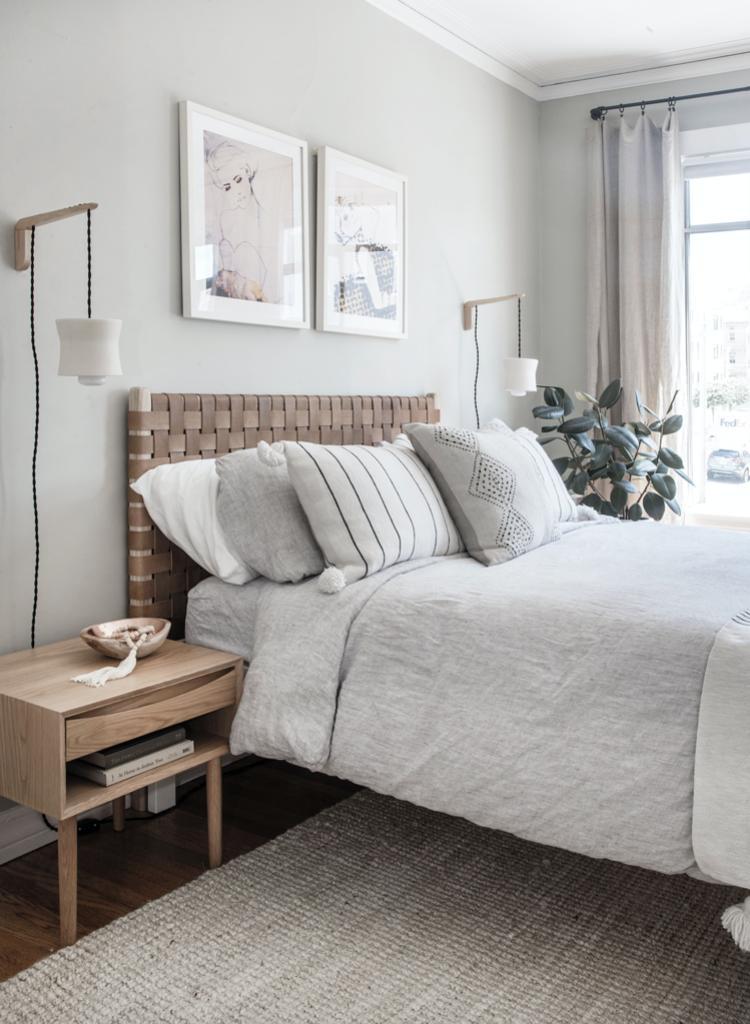 Натуральная кожа, рейки и фанера: 10 вариантов изголовья кровати в скандинавском стиле, которые легко можно сделать самостоятельно