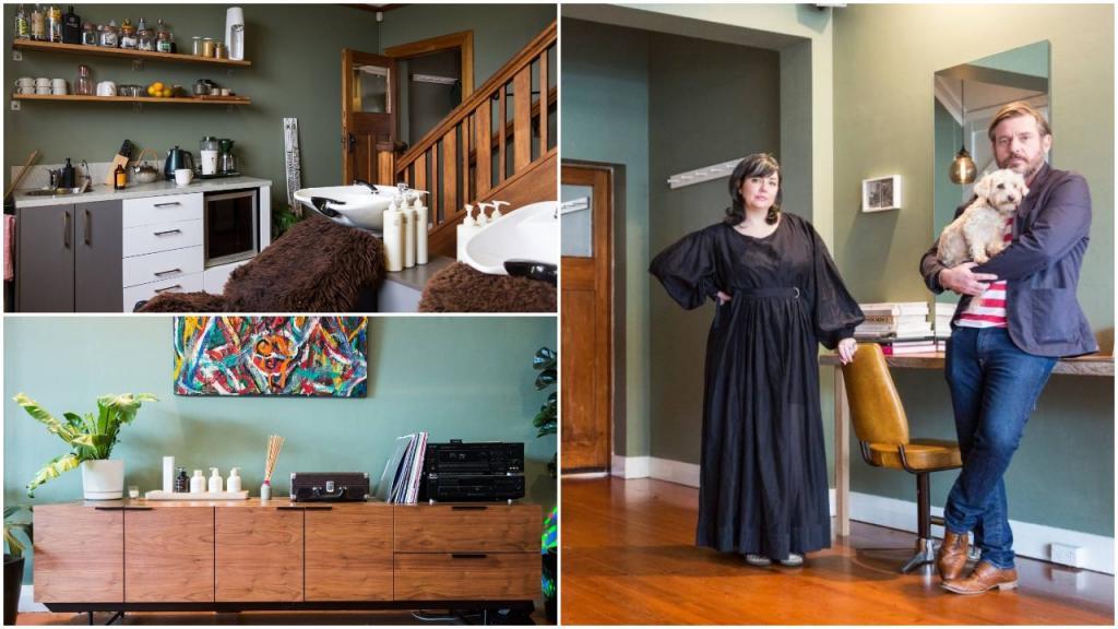Парикмахер и визажист Софи: ее столетний дом одновременно является парикмахерской и зоной отдыха