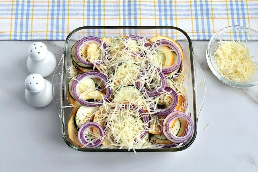 Запеченная тыква с кабачками, сыром и луком. Секретный рецепт моей бабушки!