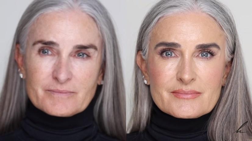 Визажист показал, какой макияж подходит для зрелой кожи: Кэролайн стала выглядеть сияюще
