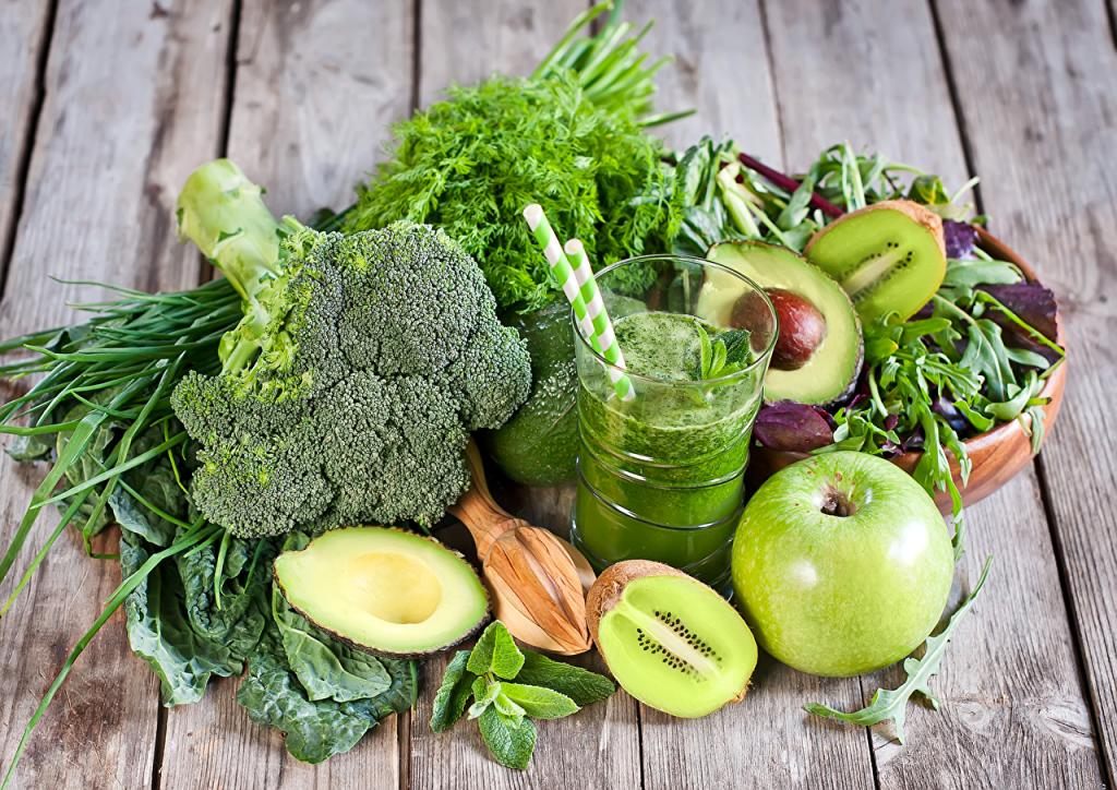 Диета зеленых овощей