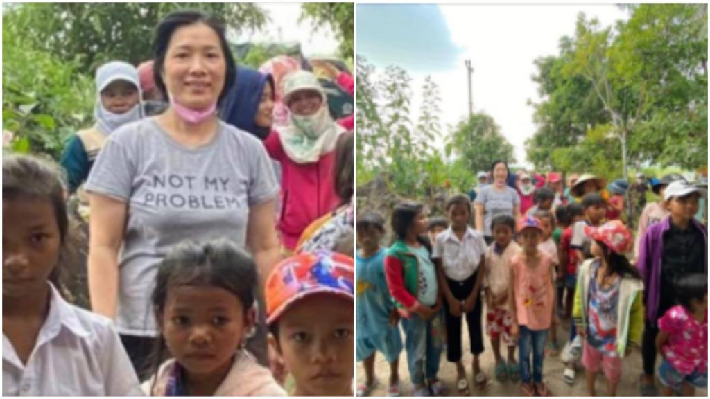 «Это не моя проблема»: женщина с такой надписью на футболке отправилась помогать детям, но она не знала английский язык