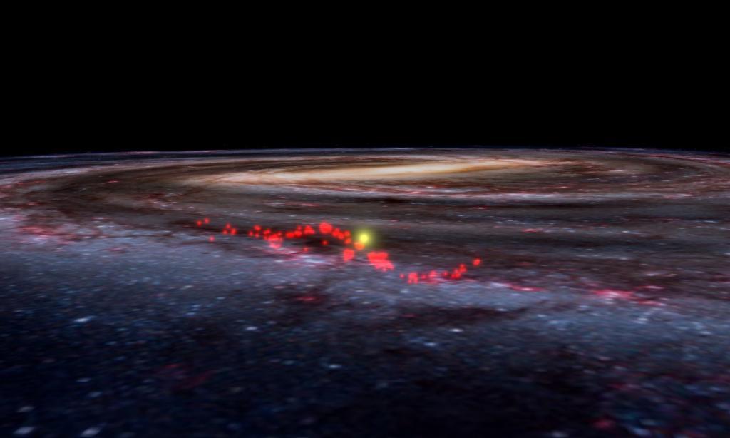 Астрономы обнаружили новую газообразную спираль Млечного Пути, где  ютятся  новые звезды