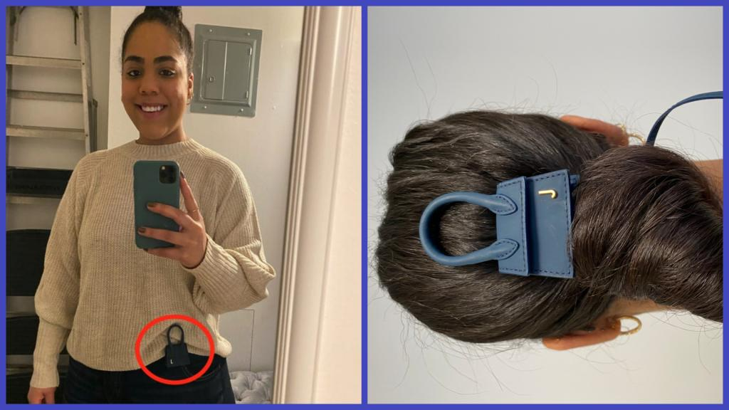 Девушка носила трендовую миниатюрную сумку, как демонстрировали на показе мод. Ее вывод: высокая мода не для обычных людей