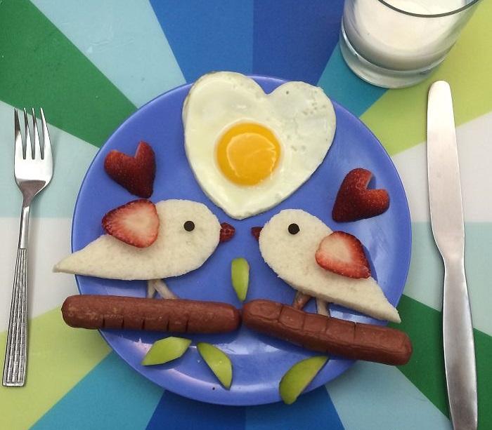 Завтрак картинки прикольные необычные