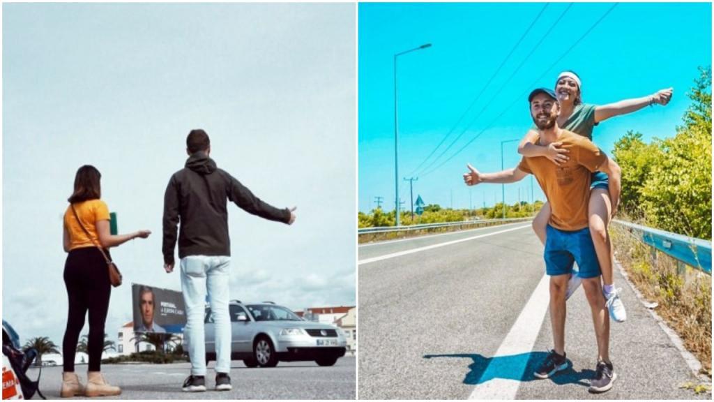 Пара проехала автостопом почти 9650 километров: они попытались доказать, что садиться в незнакомые машины не опасно, и у них это получилось