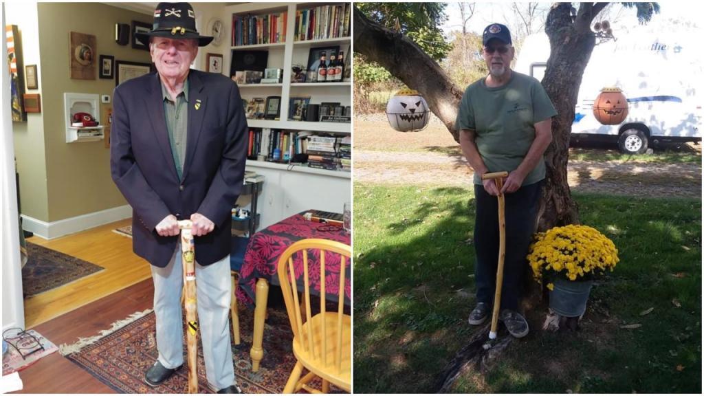 Джейми Уиллис собирает старые новогодние елки и мастерит из них трости для своих друзей-ветеранов