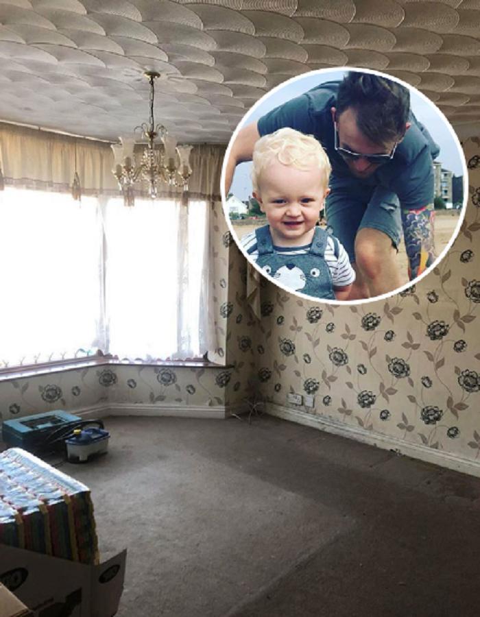 Карл недавно купил дом, нуждающийся в ремонте. Одну из комнат он превратил в игровой рай для сына (фото до и после)