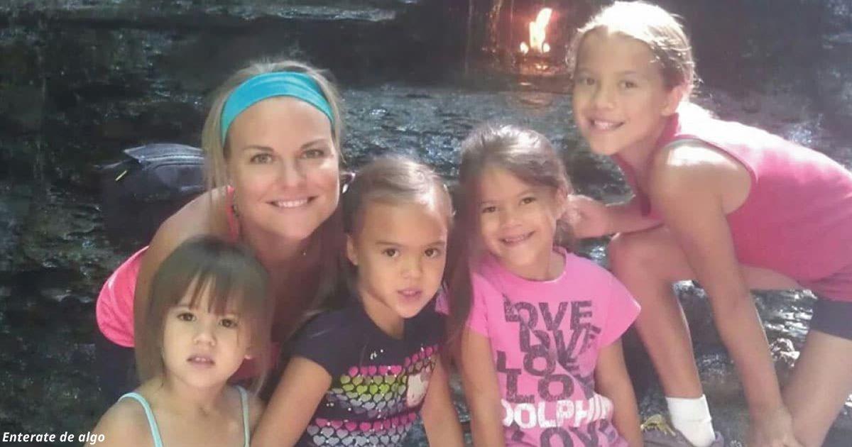 Женщина усыновила 4 дочерей своей подруги, которая умерла от рака