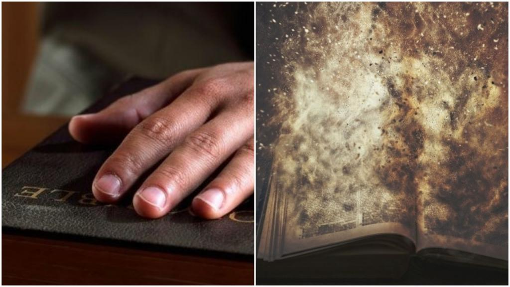 Библия, на которой сенаторы клянутся в беспристрастности по делу об импичменте Трампа, превратилась в кучу золы