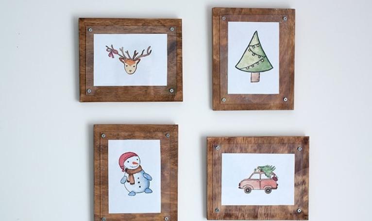 Подойдут и для фото, и для маленьких картин: как сделать простые, но очень красивые деревянные рамки в стиле кантри