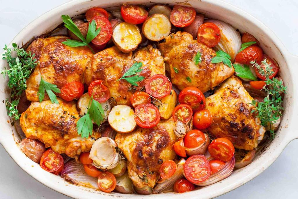 Жареная курица с помидорами-черри: добавила фенхель, и простое блюдо превратилось в королевский деликатес