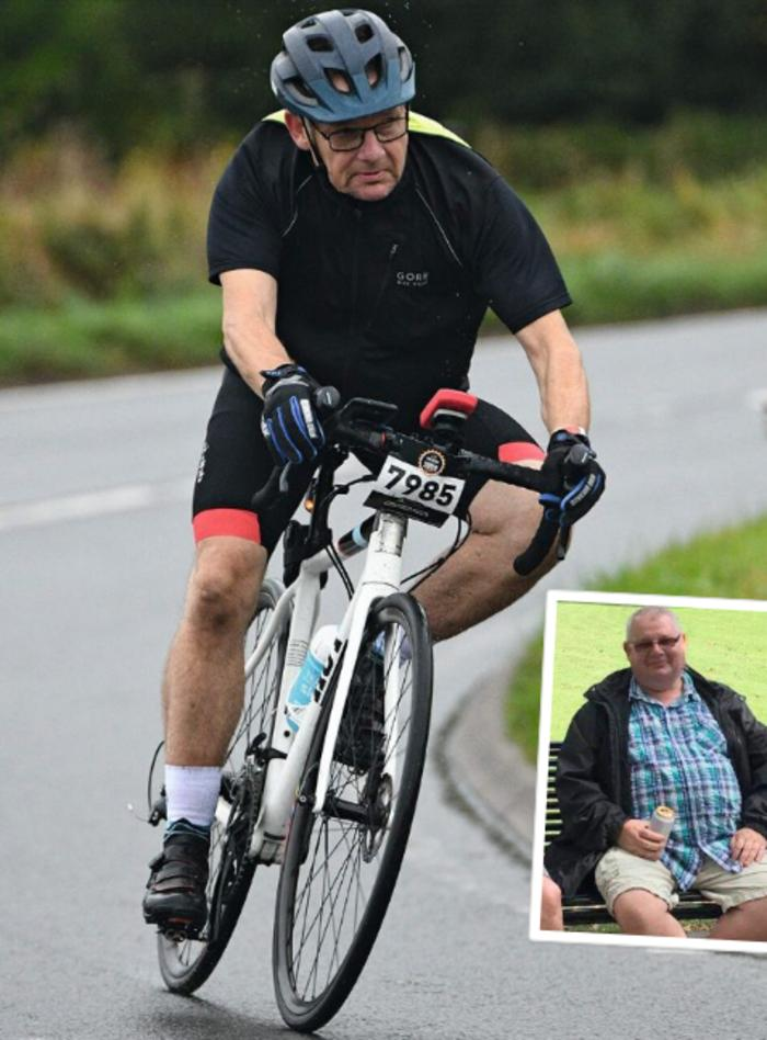 Пятидесятисемилетний мужчина сбросил более сорока килограмм и наслаждается ездой на велосипеде
