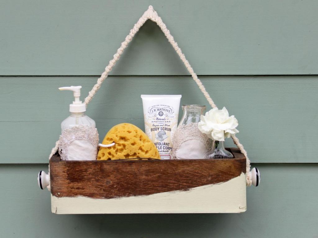 Как сделать стильную коробочку для туалетных принадлежностей в деревенском стиле: пошаговая инструкция