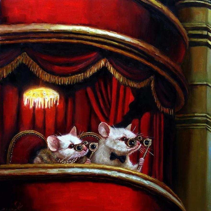 Художница Лючия Хеффернан изобразила тайную жизнь мышей в серии идиллических картин (фото)