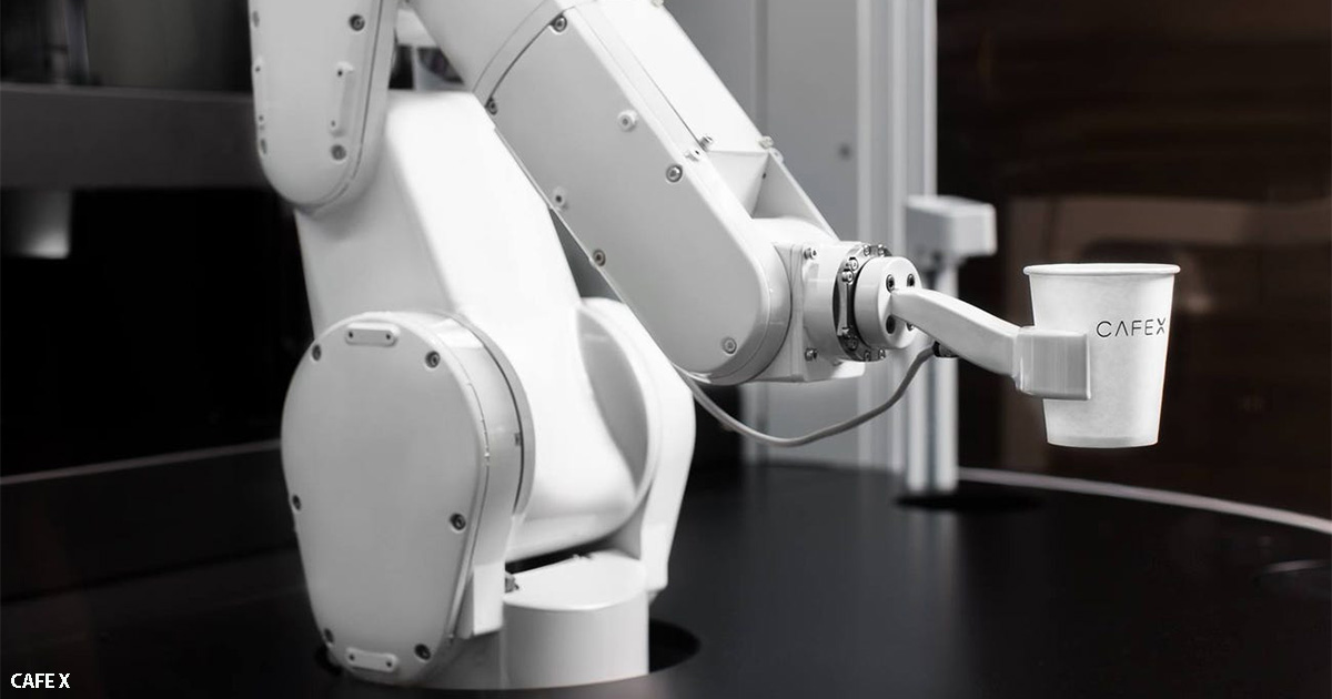 Робот-бариста за  USD 25000 делает 120 чашек кофе за час