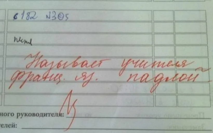 Замечания в дневнике от учителей: и смешно, и плакать хочется )))