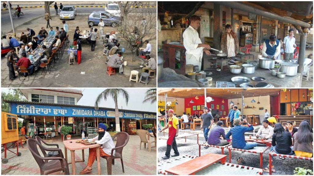 Особый шарм: индийское кафе на краю шоссе позволяет наслаждаться пищей и созерцать проезжающие мимо грузовики