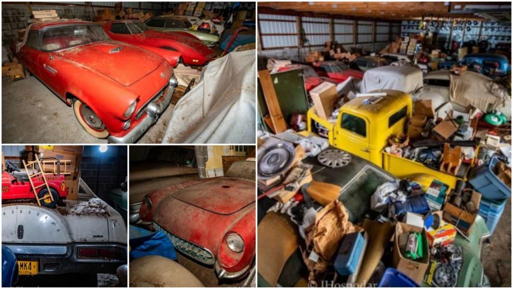 Скрытый в течение десятилетий: в Пенсильвании обнаружили старый амбар, заполненный раритетными автомобилями