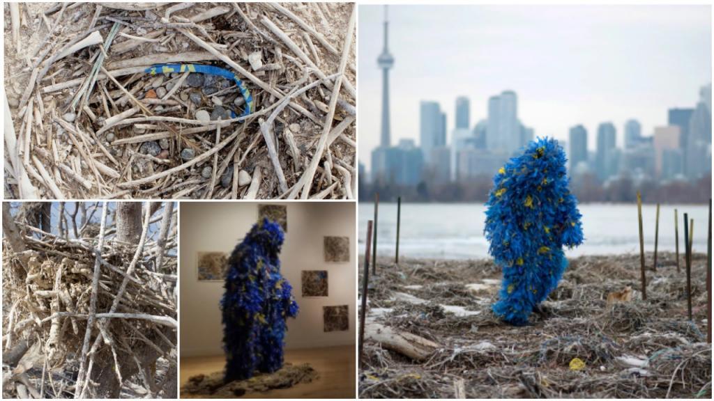 «Сплит Призрак»: художник из Торонто создал футуристический костюм из пластика, найденного в птичьих гнездах