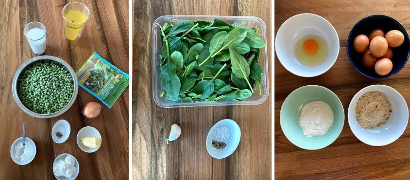 Полезное блюдо из зеленого гороха, шпината и яйца: рецепт с фото