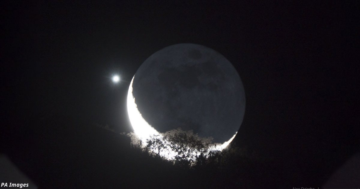Луна и Венера «поцелуются» на этой неделе
