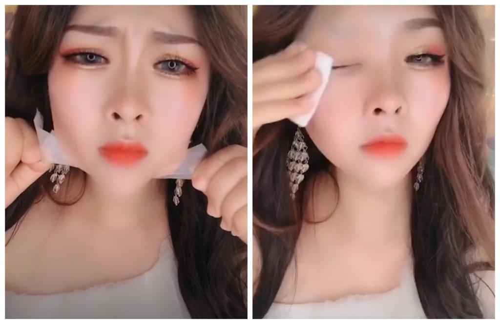 Китайская девушка сняла макияж: как она выглядит без него. Видео