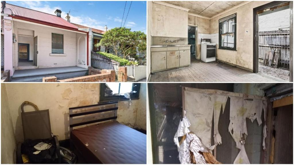 Странный аукцион в Сиднее: крошечный дом с потрескавшимися стенами и потолком, скотчем на окнах был продан за .1 млн