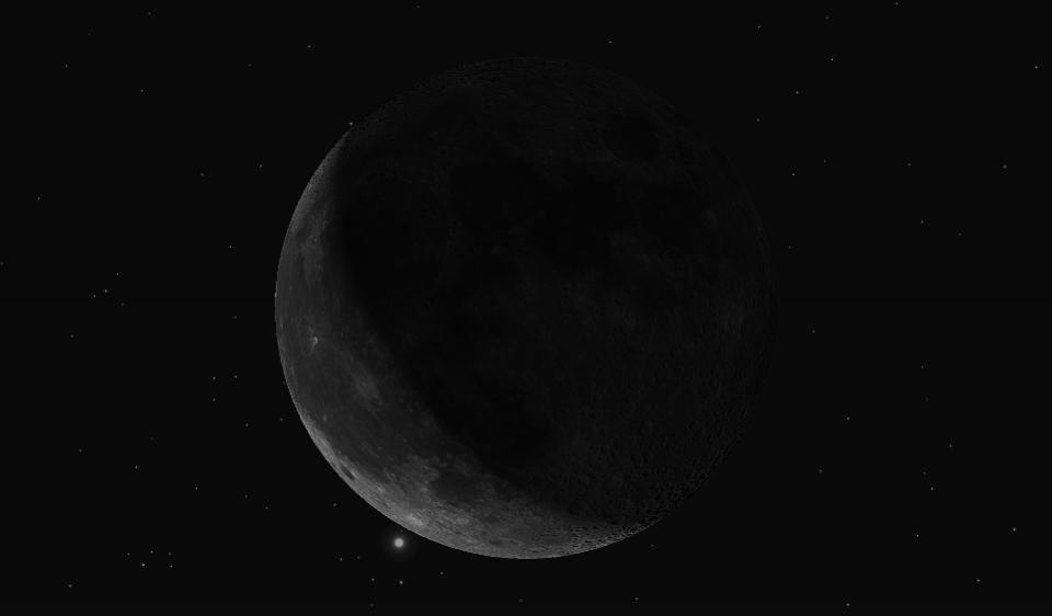 Редкое астрономическое явление : «Луна, поедающая Марс». Не каждый сможет это увидеть