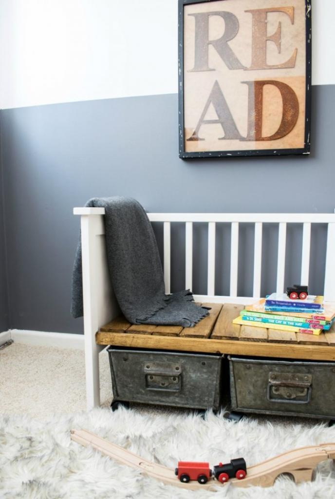 Переделка детской кроватки: превращаем ненужную вещь в удобный диванчик