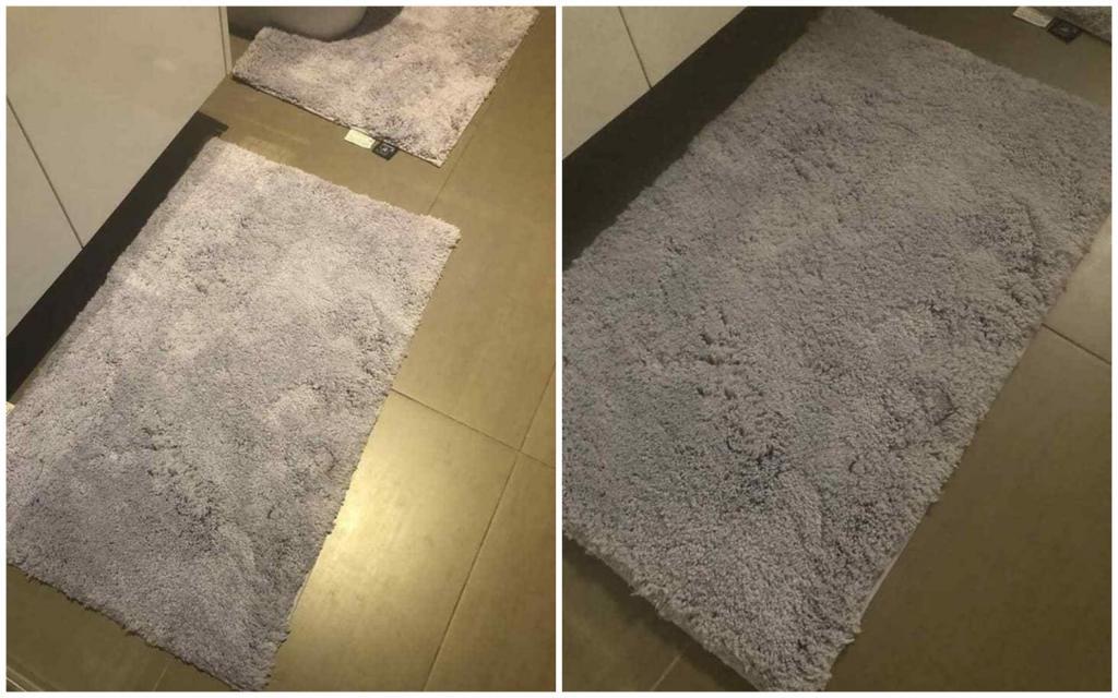 Муж пришел домой и спросил, почему коврик в ванной фиолетовый: на самом деле жена покупала серый