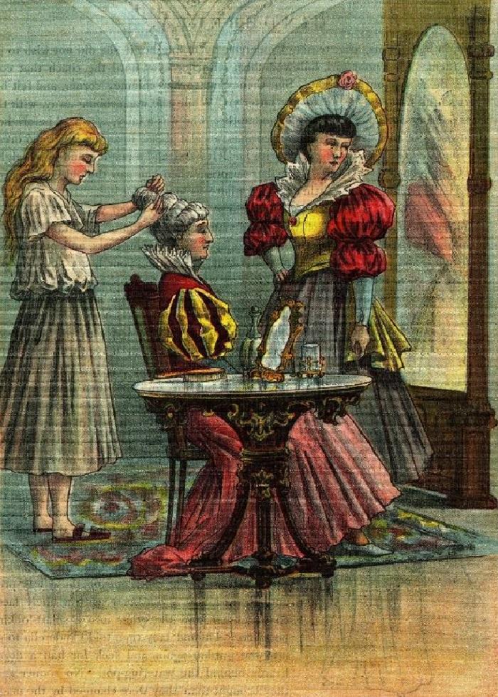 «Часы 12 бьют»: несколько иллюстраций к книге «Золушка», выпущенной в 1896 году