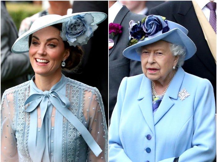 В одном стиле: Кейт Миддлтон и королеву Елизавету часто можно увидеть в похожих нарядах