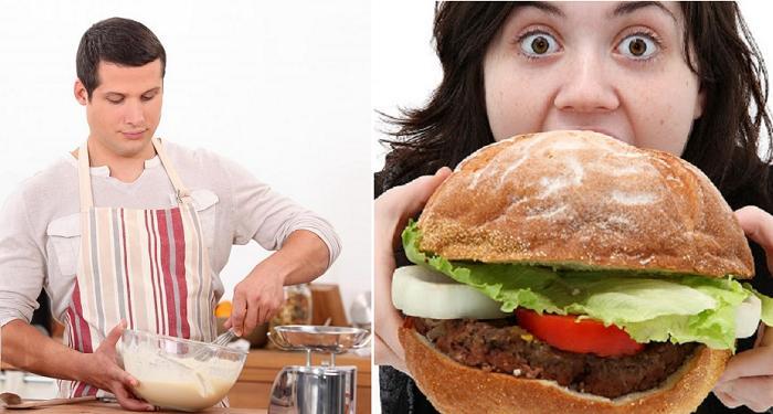 Жена хотела похудеть, но слишком много ела. Тогда муж решил ей помочь и приготовил пирожные, увидев которые она потеряла аппетит и надолго