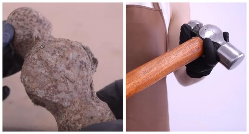 Как новенький: мужчина отреставрировал старый ржавый молоток
