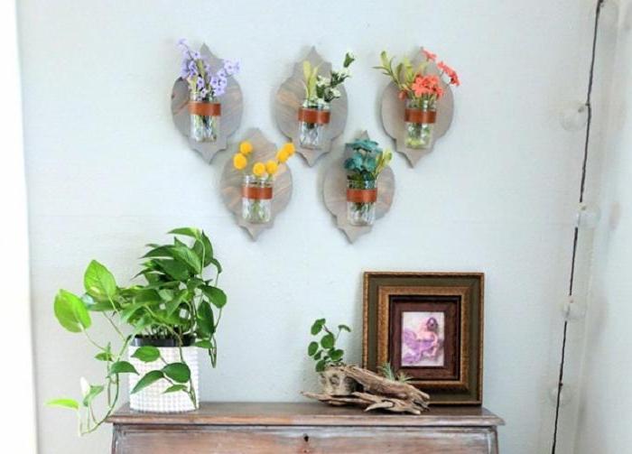 Муж смастерил стильные подставки для ваз и цветочных горшков