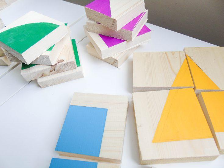 Простая развивающая игрушка: делаем пазл с геометрическими фигурами из натурального дерева