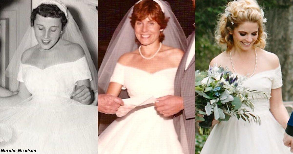 3 поколения невест носили одно и то же свадебное платье 1955 года