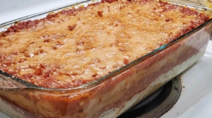 Макаронная запеканка по-итальянски: готовлю ее под сыром, с говяжьим фаршем