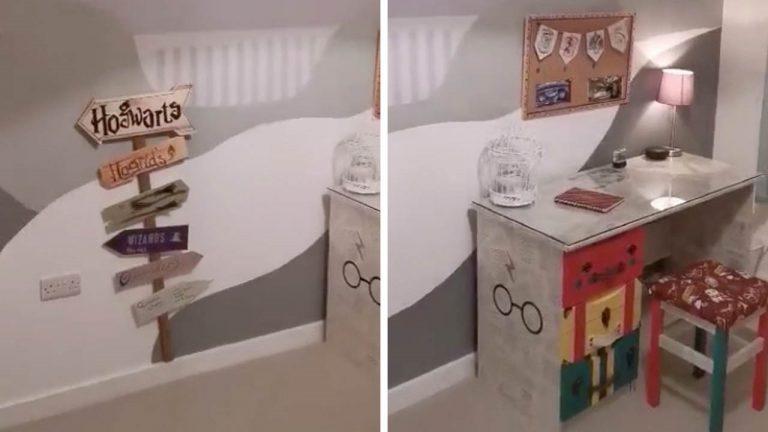 Для дочки, фанатки Гарри Поттера, мама постаралась и сделала ее спальню немного
